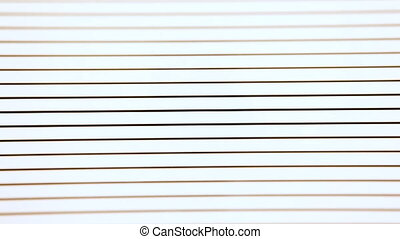 opening and closing blinds. moving black and white lines -...