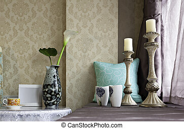 Interiors decoration - Interiors decoration by the window in...