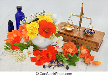 Natural Flower and Herbal Therapy
