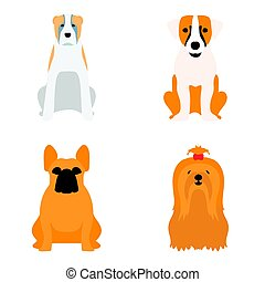 Funny cartoon dog character bread cartoon puppy friendly...