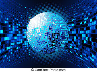 Abstract Background - illustration of abstract blue party...