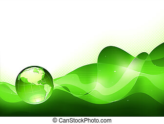 Abstract Background - illustration of abstract green...