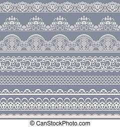 seamless lace border - Horizontally seamless floral lace...
