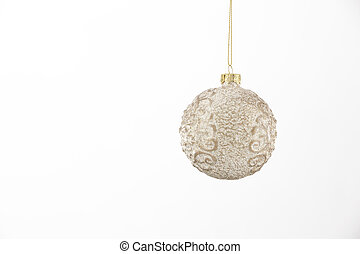 White Christmas Ornament Isolated