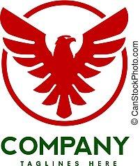 eagle bird with circle logo