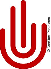 Hand symbol and finger signs logo