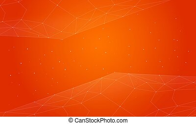 Style orange abstract background collection