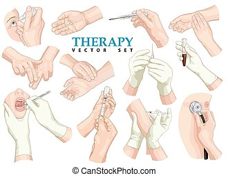 Therapy. Vector set.