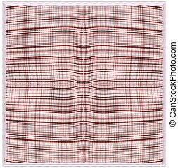 Weave grunge striped and checkered serviette in brown, beige...