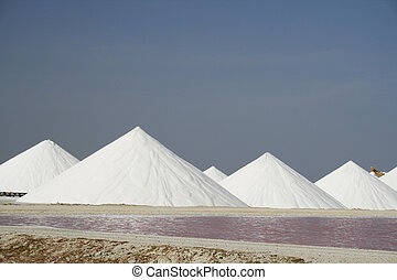 Salt pans - Salt industry on Bonaire, former Netherlands...