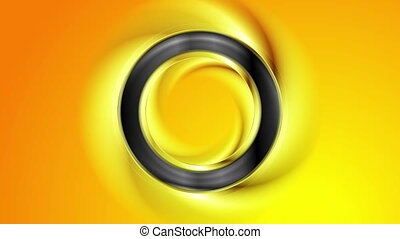 Smooth black ring abstract video animation - Smooth black...