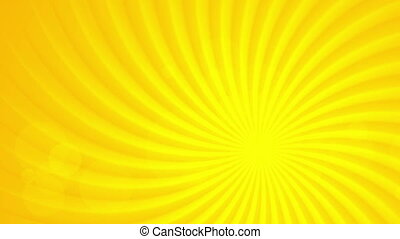 Bright orange sun beams video animation - Bright orange sun...