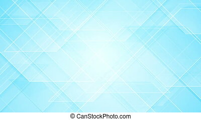 Bright blue tech geometric video animation - Bright blue...