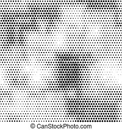 Modern seamless pattern with dots transition halftone in...