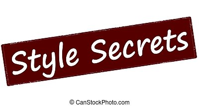 Style secrets - Stamp with text style secrets inside, vector...