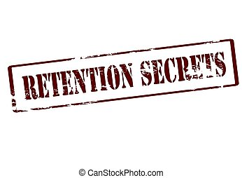 Retention secrets - Stamp with text retention secrets...