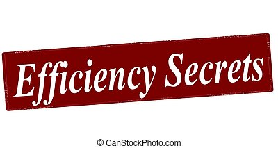Efficiency secrets - Stamp with text efficiency secrets...