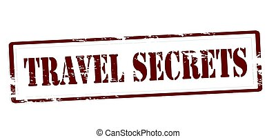 Travel secrets - Stamp with text travel secrets inside,...