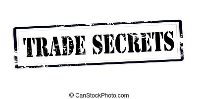 Trade secrets - Stamp with text trade secrets inside, vector...
