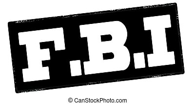 Federal Bureau of Investigation - Stamp with text Federal...