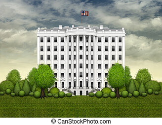 White House Tower - The White House, illustrated as a twelve...