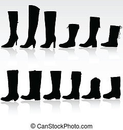 boots vector silhouette