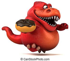 diversión, Dinosaurio,  -, Ilustración,  3D