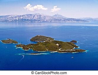 Skorpios island aerial view - Skorpios island, near Lefkada,...