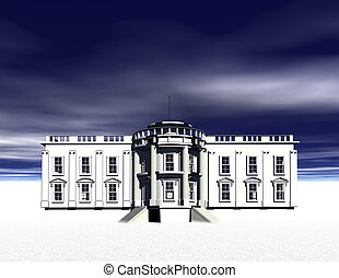 White House - Digital visualization of the white house