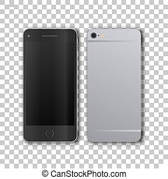 Front and back view of phone