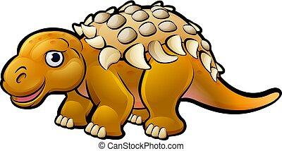Ankylosaurus Dinosaur Cartoon Character