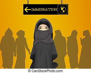 Immigration - illustration of Immigration