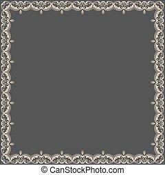 Vector fine floral square frame.