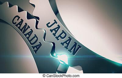 Japan Canada - Mechanism of Metal Cog Gears . 3D . - Japan...
