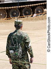 Japanese armor shouldered a transceiver - Japanese armor...