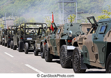 Military vehicle  in japan. Japan Ground Self Defense Force