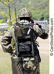 Japanese armor shouldered a transceiver - Japanese armor...