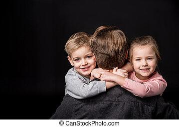 Kinder, Vater, glücklich
