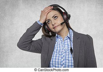 Headache ot this work in the call center