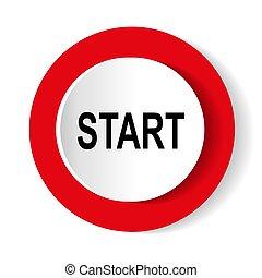 start icon. Internet button