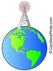 radio tower standing on top of earth