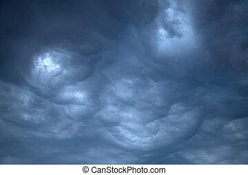 Ominous Rain Clouds - Dark, Ominous Rain Clouds before the...