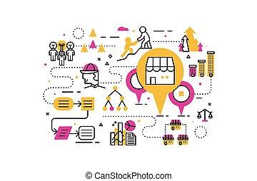 Franchise business illustration - Franchise business line...