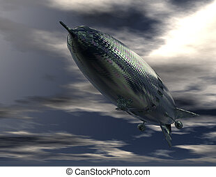 airship - digital rendering of an airship