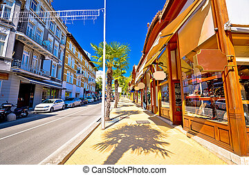 Town of Opatija street view, Kvarner bay, Croatia