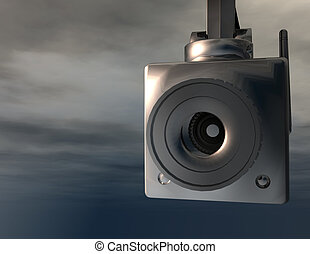surveillance camera - digital rendering of a surveillance...