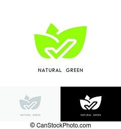 Natural green logo