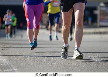 Nova poshta Kyiv half marathon in Kyiv, Ukraine.