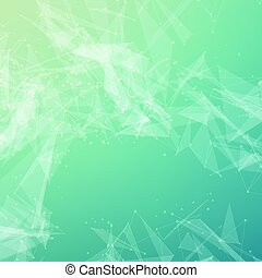 Abstract vector mesh background. Chaotically connected...