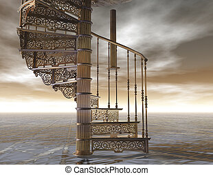 spiral - digital visualization of a spiral staircase